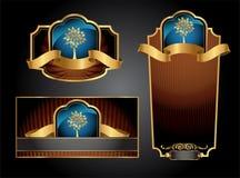 Etiquetas do luxo de Vctor Foto de Stock Royalty Free