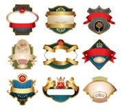 Etiquetas do luxo de Vctor Fotos de Stock Royalty Free