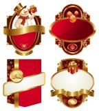 Etiquetas do luxo do Natal e do ano novo Imagens de Stock Royalty Free