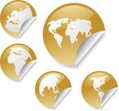 Etiquetas do mapa de mundo Imagem de Stock