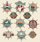 Etiquetas do marisco ilustração stock