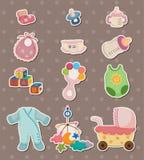 Etiquetas do material do bebê Imagem de Stock Royalty Free
