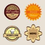 Etiquetas do menu Fotografia de Stock