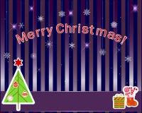 Etiquetas do Natal. ilustração stock