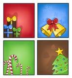 Etiquetas do Natal Fotos de Stock