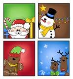 Etiquetas do Natal Imagens de Stock Royalty Free
