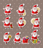 Etiquetas do Natal de Papai Noel dos desenhos animados Foto de Stock Royalty Free