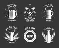 Etiquetas do ofício da cerveja ilustração do vetor