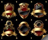 Etiquetas do ouro do vintage Imagens de Stock Royalty Free