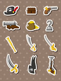 Etiquetas do pirata dos desenhos animados Fotos de Stock