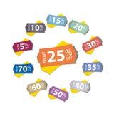 Etiquetas do preço Fotografia de Stock