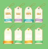 Etiquetas do preço e da venda ilustração royalty free