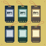 Etiquetas do preço e da venda Foto de Stock