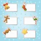 Etiquetas do presente de época natalícia Foto de Stock Royalty Free