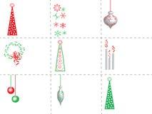 Etiquetas do presente do Natal Imagem de Stock Royalty Free