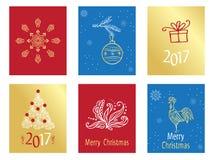 Etiquetas do presente do Natal Imagens de Stock