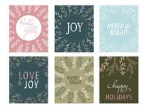 Etiquetas do presente do Natal Fotografia de Stock Royalty Free