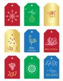 Etiquetas do presente do Natal Foto de Stock Royalty Free