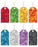 Etiquetas do presente do polígono Fotografia de Stock Royalty Free