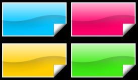 Etiquetas do retângulo Fotografia de Stock