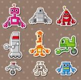 Etiquetas do robô dos desenhos animados Fotografia de Stock