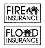Etiquetas do seguro Imagens de Stock Royalty Free