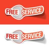 Etiquetas do serviço gratuito Imagem de Stock