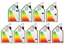 Etiquetas do uso eficaz da energia Foto de Stock