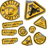 Etiquetas do vírus Imagens de Stock