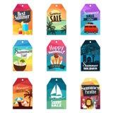 Etiquetas do verão Imagem de Stock Royalty Free