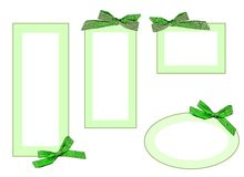 etiquetas do verde Fotos de Stock Royalty Free