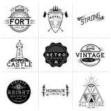 Etiquetas do vetor do vintage Imagens de Stock