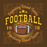 Etiquetas do vetor do vintage do futebol americano para o cartaz Imagens de Stock