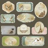 Etiquetas do vintage Imagens de Stock Royalty Free