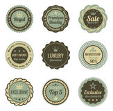 Etiquetas do vintage. Foto de Stock Royalty Free