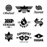 Etiquetas do vintage Fotografia de Stock