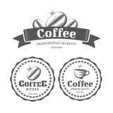 Etiquetas do vintage do café ilustração do vetor