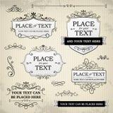 Etiquetas do vintage e elementos do rolo Imagem de Stock Royalty Free