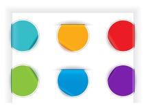 Etiquetas dobradas Imagem de Stock
