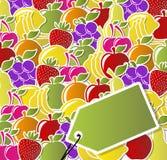 Etiquetas dos ícones da fruta Foto de Stock