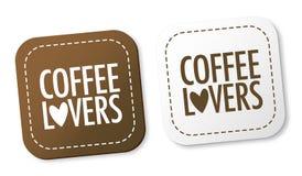 Etiquetas dos amantes do café ilustração royalty free