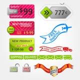 Etiquetas dos cartões dos elementos da venda da coleção Imagem de Stock