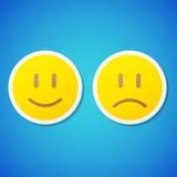 Etiquetas dos emoticons do vetor Foto de Stock