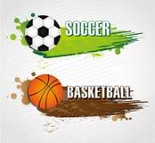 Etiquetas dos esportes Foto de Stock