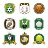 Etiquetas dos esportes Fotografia de Stock