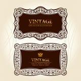 Etiquetas dos frames do vintage. decoração Imagens de Stock