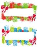 Etiquetas dos logotipos do Natal de Grunge Foto de Stock