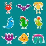 Etiquetas dos monstro ajustadas Imagem de Stock