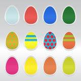 Etiquetas dos ovos de Easter Fotografia de Stock