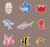 Etiquetas dos peixes Imagens de Stock Royalty Free